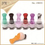 Hongwei 510 drip tips acrylic vase and stainless steel ecig drip tips with various shape glass drip tips wholeale