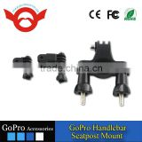 Bicycle Handlebar / Seatpost Clamp with Three-way Adjustable Pivot Arm for Gopro Hero 3+/3/2/1/4 Session