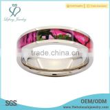 Bright-coloured titanium camouflage wedding rings