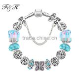 Fashion Jewelry wholesale, Exquisited murano glass beads bracelet, European Style charm bracelets wholesale