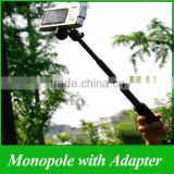 GP54 Monopod Telescoping Extendable Pole Handheld and Tripod Mount for GoPro Hero 3 2 1 xiaomi yi SJ4000 Accessories
