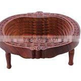 Store Indya Decorative Wooden Fruit Basket Stand for Display
