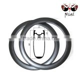 Wholesale Aero U shape 60mm carbon clincher rim 700C 23mm width, Road bike carbon clincher rim for Track bike 3K UD 12K