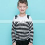 Long Sleeve Round Collar Plain T-shirt and Wholesale Baby Boys Striped Shirt or Boy Kids Striped T Shirt