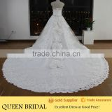 Real Works Bling Heavy Beading Wedding Dresses for Fat Woman 2016