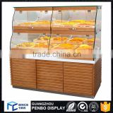 China manufacturing glass wood bread display rack, bakery display stand rack                                                                         Quality Choice