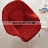 A720#Strongest design red conference chair with 4 metal legs in hotel chairs,modern hotel furniture