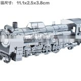 Full Metal Stainless Steel DIY glue-free stereoscopic 3D assembly model steam locomotive locomotive puzzle