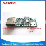 DC DC converter 5V micro usb to 3.7V Lithium ion battery charger input 5V USB output power supply