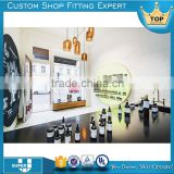 CO07 2016 fancy perfume shop interior design wooden cosmetic shop display rack furniture                                                                                                         Supplier's Choice
