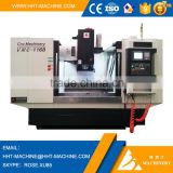 HHT brand 4 axis cnc vertical machining center VMC-1168L price with fanuc 0i mate td control system