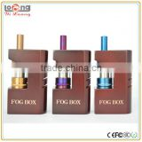 Yiloong new fog box wood mod with side firing button fit hingwong dry herb vaporizer rex