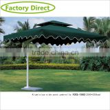 High quality aluminum cantilever outdoor umbrella for cafe                                                                         Quality Choice