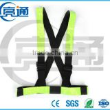 China custom green running reflective strap safety vest