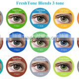15 colors 3 tone the most popular brand fresh tone color blends look contact lenses                                                                         Quality Choice