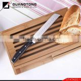 forget pom handle bread german knife with bamboo bread cutting board german bread metal cutting knife