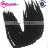 "2015 Hot sale 24"" 100g crochet hair color 1# low price twisting machine braiding"