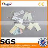 Professional factory custom hang tag string/hang paper tag for garment / jewelry tag / bracelet