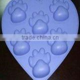 Halloween Cute Dog's foot shaped silicone cake molds