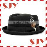 Stingy Diamond wool felt fashion Porkpie Hat