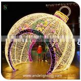 Giant Christmas LED Ball Decoration 3D LED Lighting Motif Decoration Big Sphere Archway for Street/outdoor Decoration