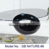 Fancy Special Glass Coffee Table Living Room Simple Design Black Furniture For Home Indoor Uphosterly