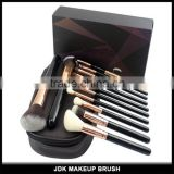 JDK 12PCS Luxurious Soft synthetic hair Eye Cosmetic brush Custom Gift box Makeup Brush Set with travel makeup bag