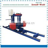 wood cutting Bandsaw Horizontal Timber Sawmill mini band saw