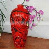 Handmade traditional floor vase large antique resin vase
