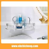 Bathroom Wall Mounted Aluminium Corner Shelf Bath Accessories Storage Holder