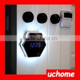 UCHOME Factory Supply DIY Projection Mirror LED Digits Clock With Back Lights