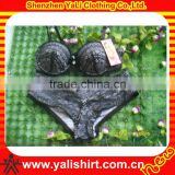Customized popular top quality lace style black fitness lady brief sets underwear wholesale