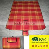 Hot sale wholesale 100% polyester folding outdoor picnic rugs dwinguler portable camping mat H001