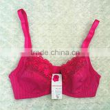 Beautiful flower embroidery women sexy bra name brand