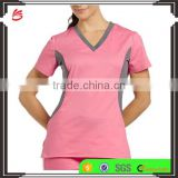 Custom fashionable nurse uniform designs medical scrub suit design in hospital uniform with scrub pants
