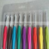 9 pcs rubber crochet hooks with plastic case