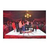 Solid Stainless Steel Portable P12.5 LED Dance Floors for Concert Background 6400 (dot/m2)