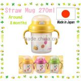 Japan Baby Straw Mug Yellow From around 8 months 270ml Wholesale