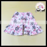 2016 new owl patterns ruffle shorts first impressions baby clothes wholesale cotton baby ruffle shorts photo children in shorts
