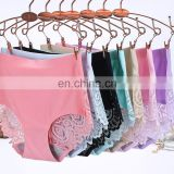 Hot selling sexy lady panty women seamless underwear with lace back