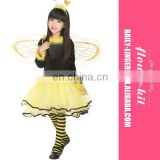 New design Lovely Design Yellow Bee Dress kids girls cosplay Fairy Tale Costume For Kids