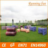 Commercial grade funny PVC paintball production equipment, Inflatable Paintball Air Bunker