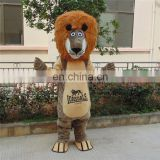 2017 comfortable china factory produced animal lion mascot costumes for sale