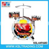 Nice design kids jazz drum set toys with stool
