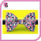 Colorful Triangle Bow Tie Geometry Bow Tie Fashion Bow Tie Spring Bow Tie
