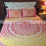 Ombre Mandala Duvet Cover Bohemian Doona Cover Reversible Cotton Quilt Cover Indian Queen Duvet Cover SSTH54