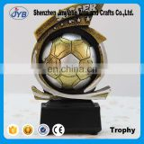 Creative design resin material souvenir football soccer match trophy