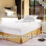 100% polyester bed skirt hotel skirt