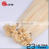 keratin pre bonded i tip hair grade 5A,6A,7A Indian remy human hair 613 color hair extension