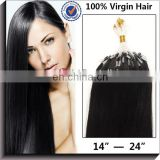 Clip On Hair Pieces 100% Virgin Remy Micro Ring Hair Extension